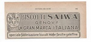 Pubblicita-1924-BISCOTTI-SAIWA-GENOVA-BISCUITS-advert-werbung-publicite-reklame