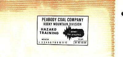 NICE  PEABODY COAL CO. COAL MINING STICKER # 898