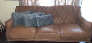 2 x 3 Seater Leather Lounge