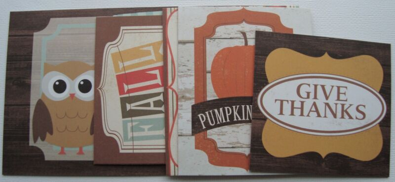 Journal Kit  - FOREVER FALL - Chipboard - Phrases - Picture Card Embellishments