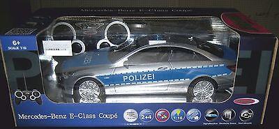 Jamara 403705 MB E 350 E-Klasse Coupe Polizei 1:16 RC Elektro 2 WD mit Sirene