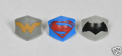 12 Superman vs Batman Dawn of Justice Cup Cake Rings Topper Kid Party Bag Supply