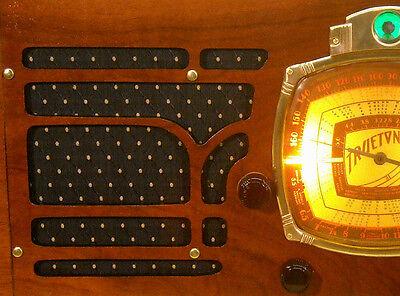 Vintage Black & Gold Speaker Grill Cloth Art Deco – Old Antique Radio Grille