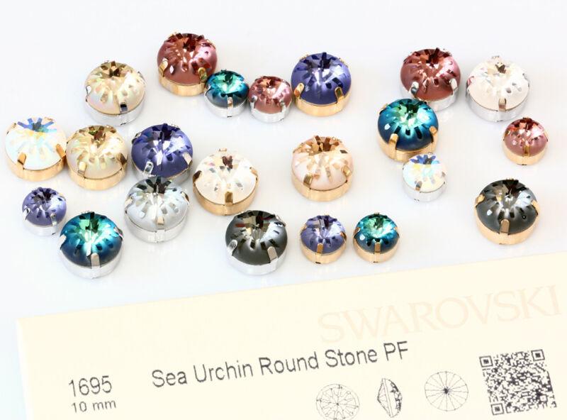 Genuine SWAROVSKI 1695 Sea Urchin Fancy Crystals with Sew On Metal Settings