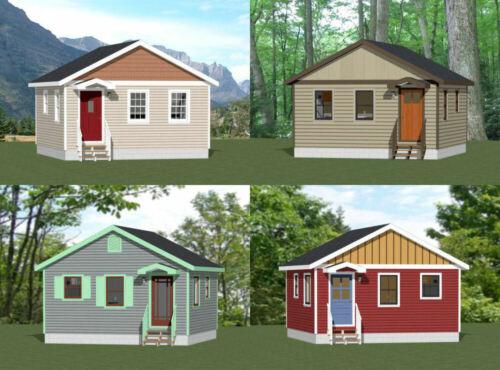 20x20 Tiny Houses -- PDF Floor Plan -- 400 sq ft -- Models 1
