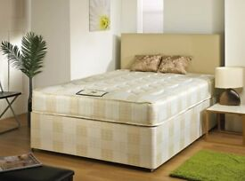 EXPRESS SAME/NEXT DAY DELIVERY** NEW SINGLE DOUBLE AND KING DIVAN BED BASE + MATTRESS