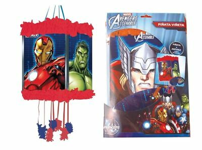 NEW AVENGERS STRING PARTY PINATA WITH BLINDFOLD PW + 12, 24, 48, OR 100 TOYS