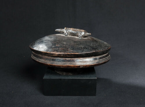 Lozi Zoomorphic Food Bowl, Zambia, African Tribal Arts, Domestic Artifacts