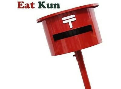 NEW Eat Kun Japan Post Mailbox-Japanese red postal box With stand From Japan F/S