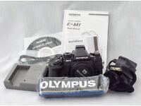 Olympus EM 1 Mk 1 body only.
