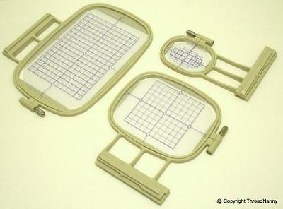 NEW 3 EMBROIDERY MACHINE HOOPS Set for Brother Innovis 2500D
