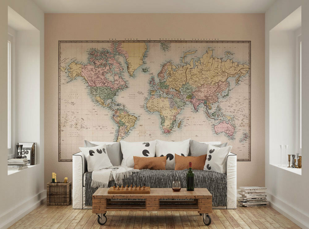 Historic World Map Classic Wall Mural