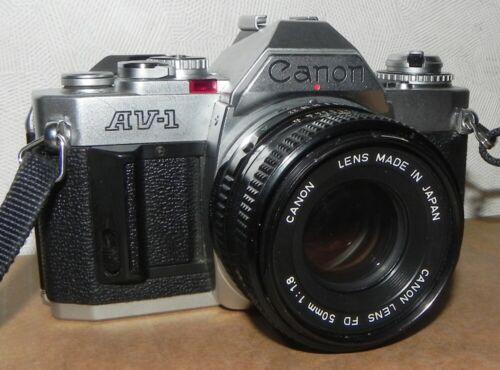 CANON AV-1 CAMERA WITH 50MM 1.8 LENS