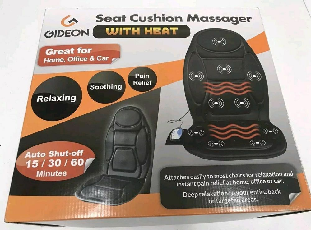Gideon Seat Cushion Vibrating Massager for Relieving Back, S