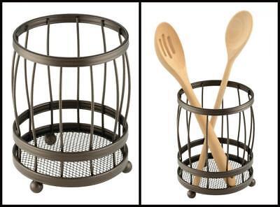 Kitchen Countertop Utensil Tool Holder Dish Silverware Dryer Organizer Storage