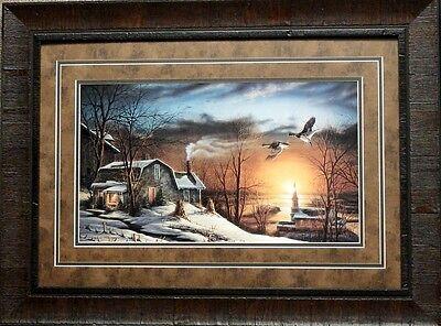 Terry Redlin Silent Sunset   Art Print-Framed 27.5 x 20.5