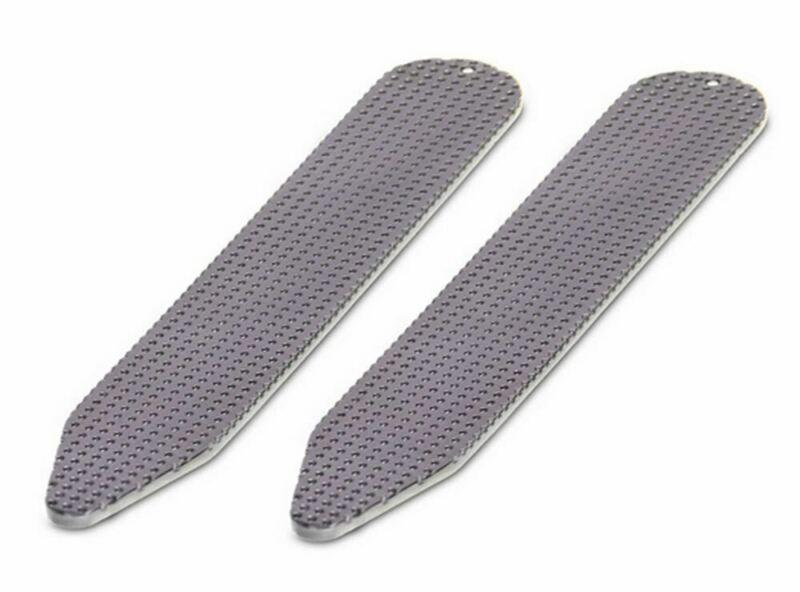 David Van Hagen Mens Gunmetal Textured Collar Stiffeners - Grey