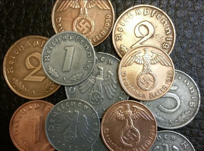 Rare WW2 German TWO Coins - Authentic Historical Atifacts For Coin Collectors
