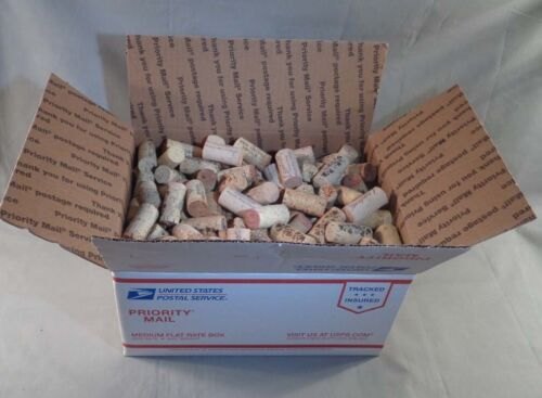 Lot of Approx. 300 Used Wine Bottle Natural Corks - Med. Flat-Rate Box Full