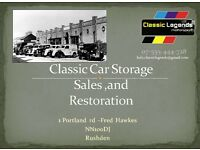 Classic car storage - Rushden Northamptonshire