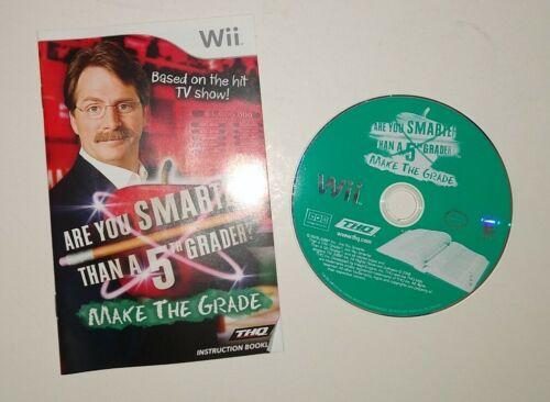 Are You Smarter Than A 5th Grader Make The Grade Nintendo Wii, 2008  - $7.90