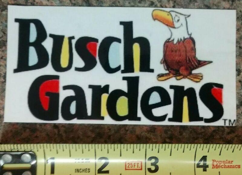 Busch Gardens Tampa Florida Williamsburg VA Logo Sticker Decal High Quality NEW!