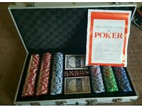 brand new never been used poker set