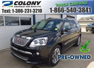 2012 GMC Acadia Denali, AWD, Leather, Sunroof, PST PAID