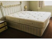 King Size Divan Bed: Sealy Base with Staples Mattress