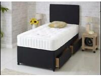 Best quality single divan bed with mattress and headboard