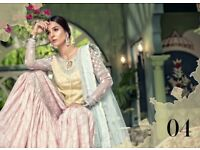 Maria B stitched Fabrics - Lawn D-504-Yellow & Pastel, Mastercopy, pakistani clothing, asian wear