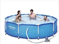 BRAND NEW Bestway Steel Pro Frame Swimming Pool with Pump - 10 feet x 30 inch
