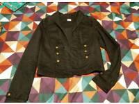 Cropped military style jacket