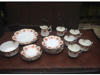 Alton Wellington China 25 Piece Tea Service Set