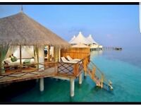 Maldives 5* all inclusive, water bungalow, 10 nights, all transfers and airport parking; £4500