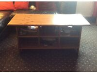 Solid Wood Antique Pine Large Coffee Table