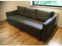 FREE DELIVERY IKEA FRIHETEN GREY 3 SEAT SOFA BED WITH STORAGE