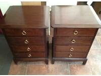 Stag minstrel pair of 4 drawer chests