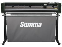 Summa SummaCut-R D120 Vinyl Cutter with stand & media basket for sale, used daily.
