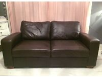 Leather Sofa Bed (from Next)