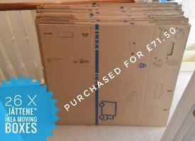 IKEA 26 x Jättene moving box cardboard 62L (worth £70)
