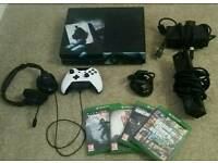Xbox one custom bundle + kinect + games + turtle beach