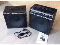 """Gallien Krueger MB150S bass combo + 12"""" bass cabinet"""