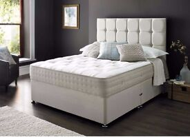 Express Delivery Brand New Double Divan Bed with Superb Orthopaedic Mattress Only £129