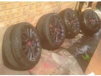 """17"""" 225/45 genuine Audi A3 alloys + tyres"""