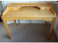 Beech desk / dressing table