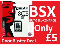 Kingston Genuine Original 8GB Micro SD Card New Only £5 Was £10 / cheaper than ebay Another Door