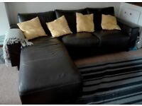 Brown sofa - Good quality - Synthetic leather