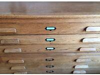 Lovely large vintage plan chest for sale - £400