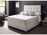 LUXURY 2000 POCKET SPRUNG MATTRESS AND DOUBLE DIVAN BED BASE FREE DELIVEY